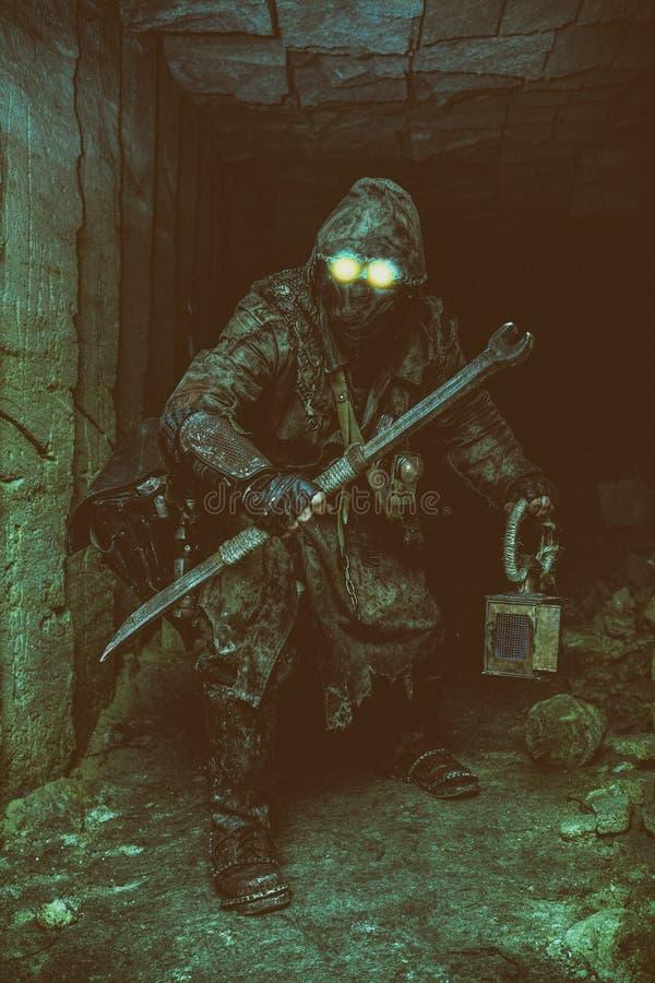 Underground post apoc beast royalty free stock photography