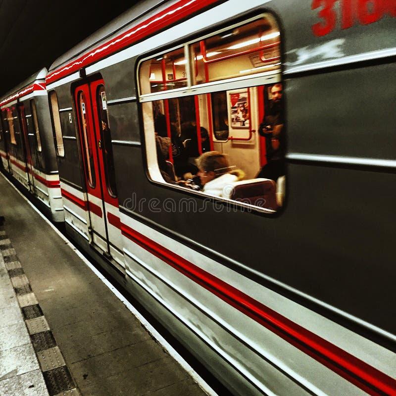 Underground in Prague royalty free stock image