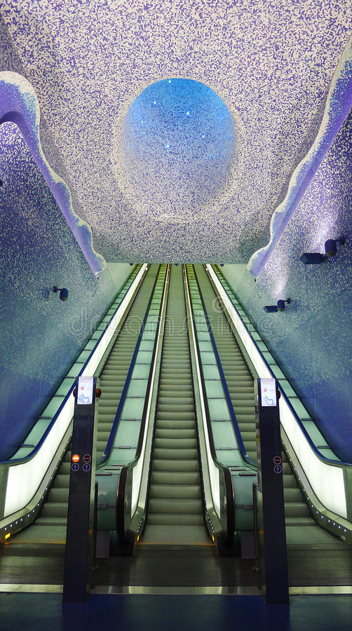 Download Underground Staircase, Toledo Station, Naples Editorial Stock Image - Image: 27247639