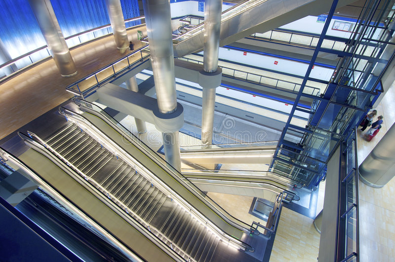 Download Underground station stock photo. Image of lonely, levels - 8988180