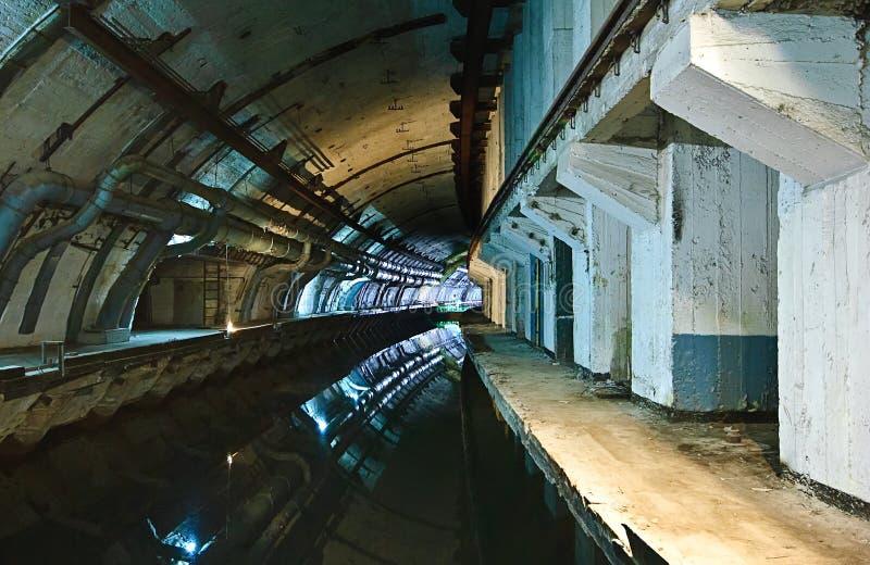 Underground submarine base royalty free stock photos
