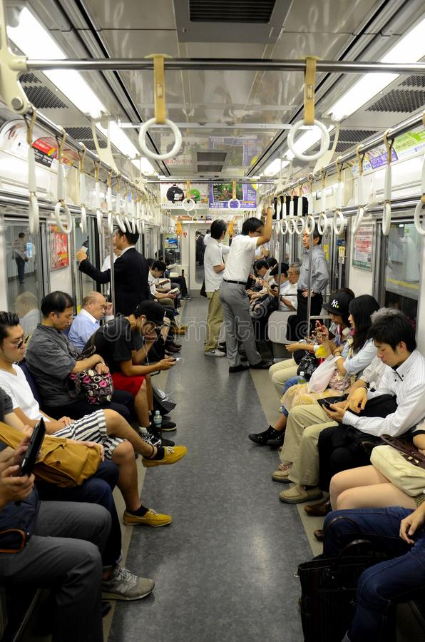 underground subway train carriage with people in tokyo japan editorial stock photo image 49289348. Black Bedroom Furniture Sets. Home Design Ideas