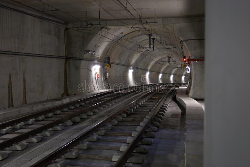 Underground tunnel royalty free stock photo