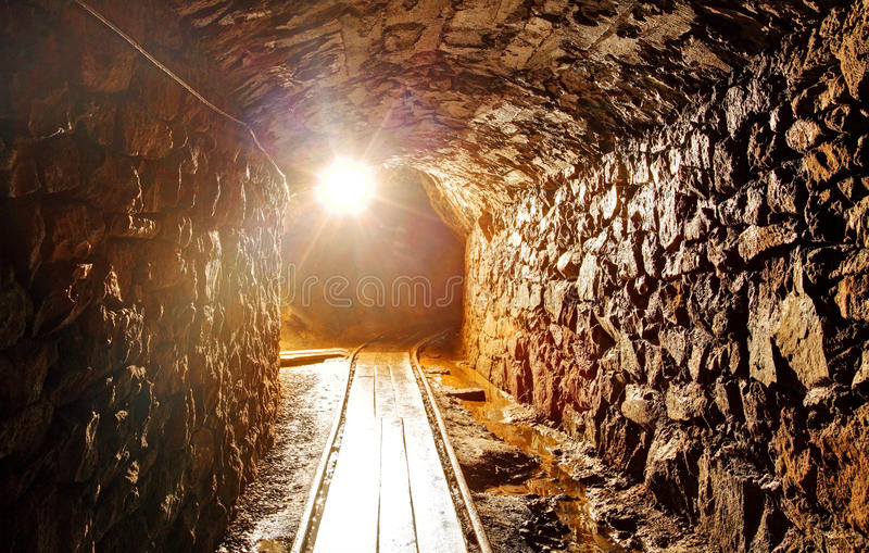 Underground tunnel stock images