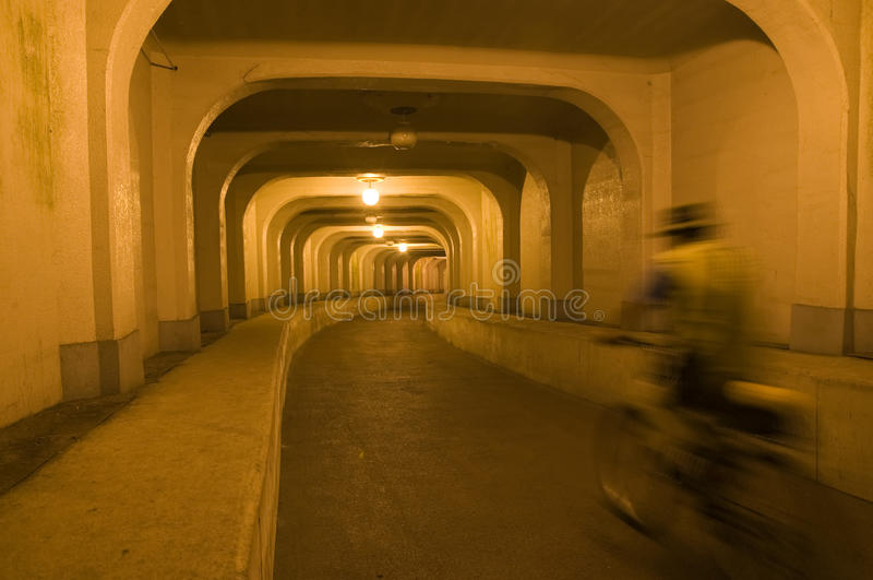 Underground Tunnel, South Korea stock photography