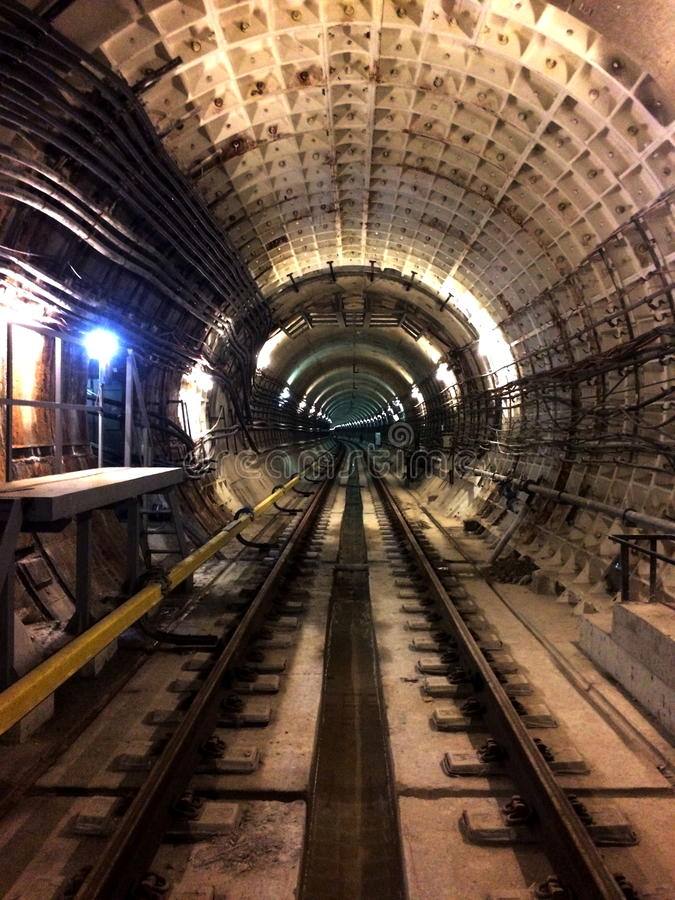 Underground tunnels construction stock images
