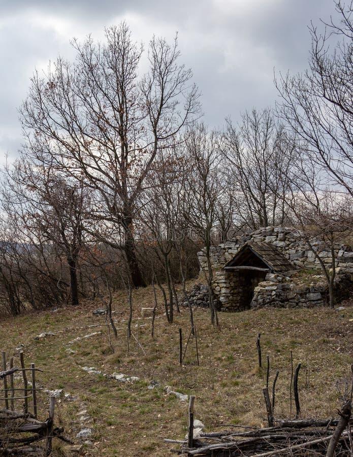Underground vineyard equipment storage in hungary royalty free stock photos