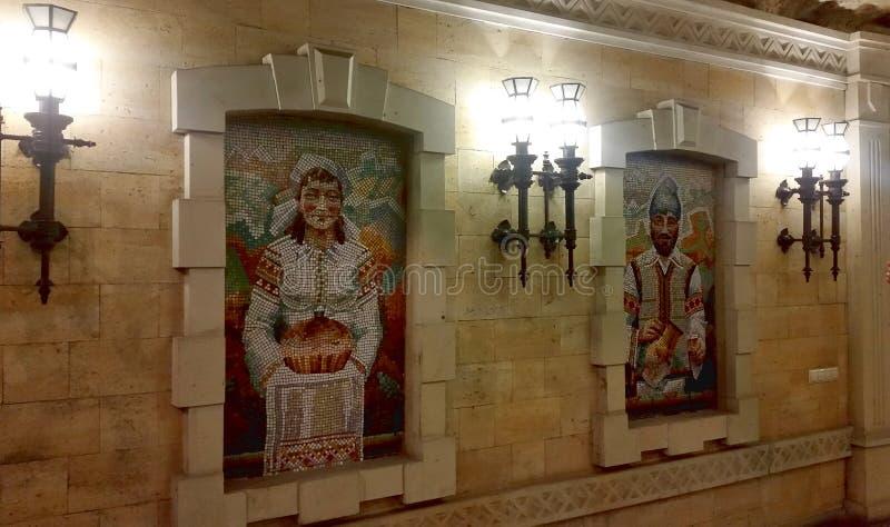 Underground wine cellar with collection of bottles, Cricova, Moldova royalty free stock photos