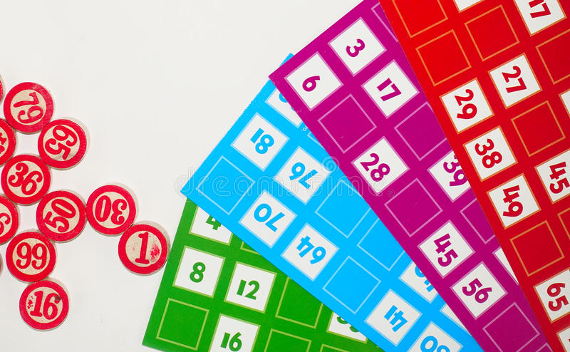 Underhållning för lek för lottoBingoTombala dobbleri royaltyfri fotografi