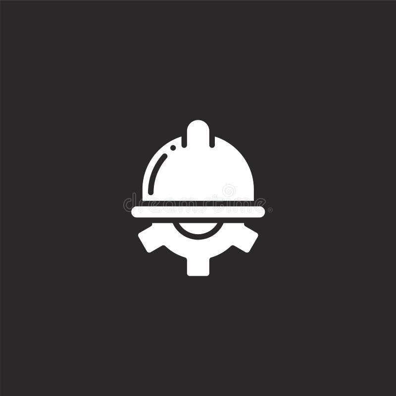Underh?llssymbol Fylld underhållssymbol för websitedesignen och mobilen, apputveckling underhållssymbol från fyllt royaltyfri illustrationer