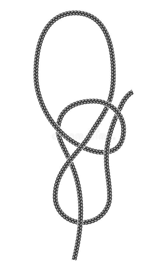 Underhand узел булиня бесплатная иллюстрация