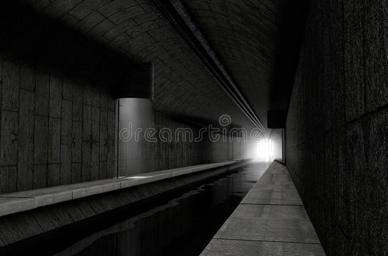 Underjordisk avklopp vektor illustrationer