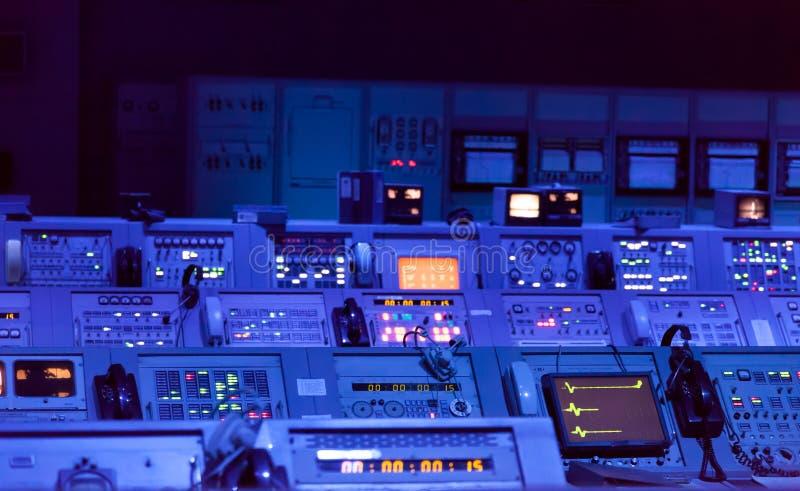 Underjordisk bunker för kontrollbord arkivbilder