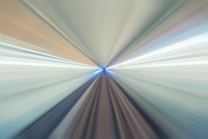 Underjordisk järnväg tunnel Abstrakt hastighetsrörelse för drev vektor illustrationer