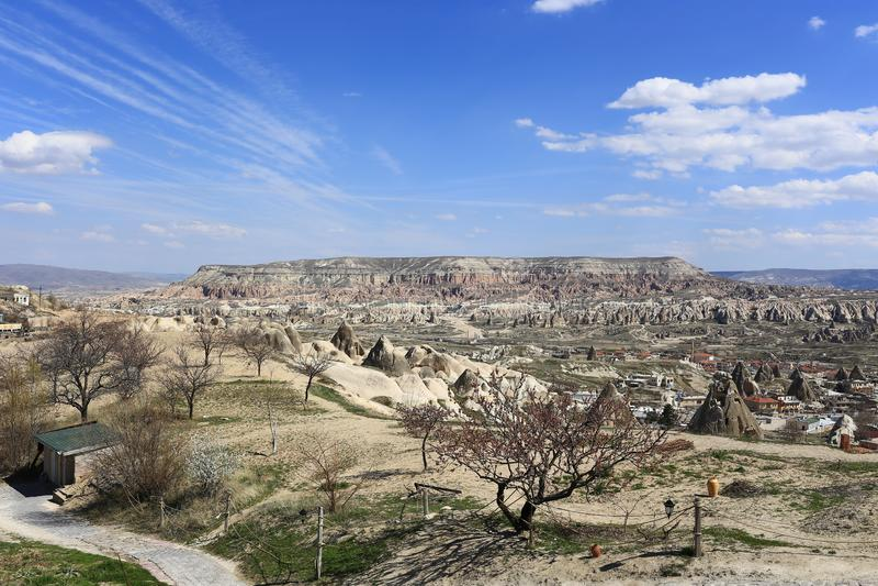 Underjordisk stad i Turkiet arkivfoto