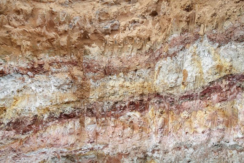 Underjordiska lager av jorden Härligt texturera arkivfoton
