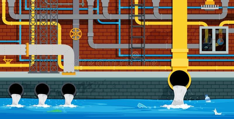 Underjordiskt rör för stad royaltyfri illustrationer
