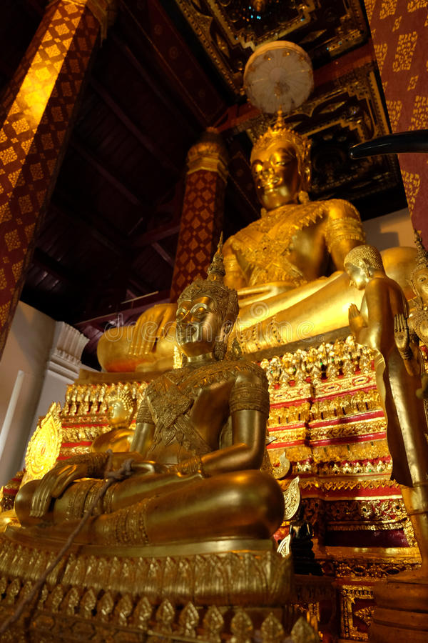 Underkuva den Mara Buddha bilden av Wat Nah Phramen arkivbilder