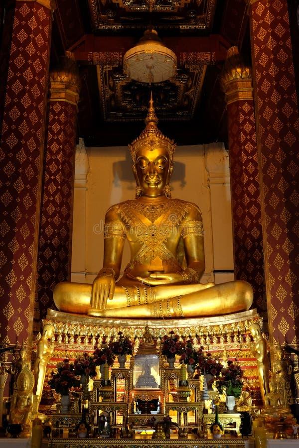 Underkuva den Mara Buddha bilden av Wat Nah Phramen (Lodlinje 1) arkivbild
