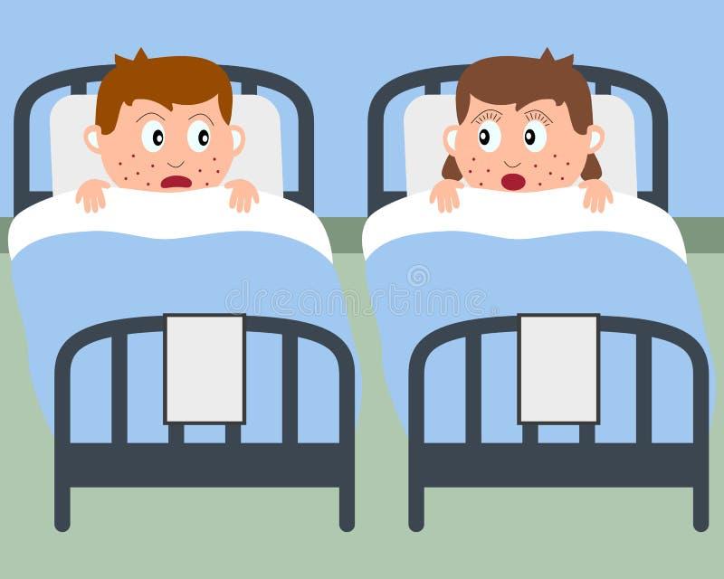 underlagsjukhuset lurar sjukt stock illustrationer