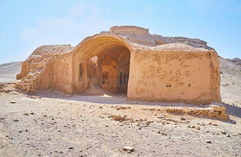 Undersök Zoroastriankultur, Yazd, Iran fotografering för bildbyråer