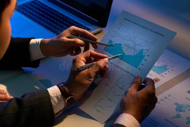 Undersökande affärsdokument arkivbilder