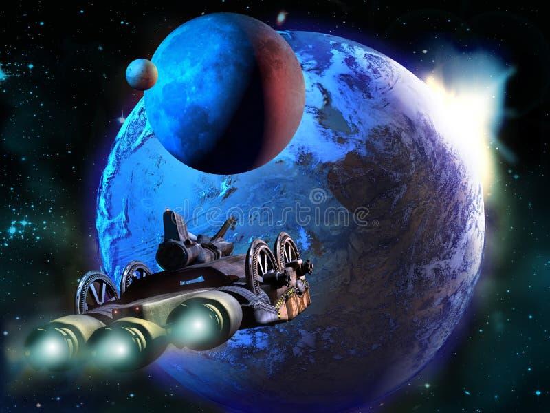 undersökande avlägsna planet stock illustrationer