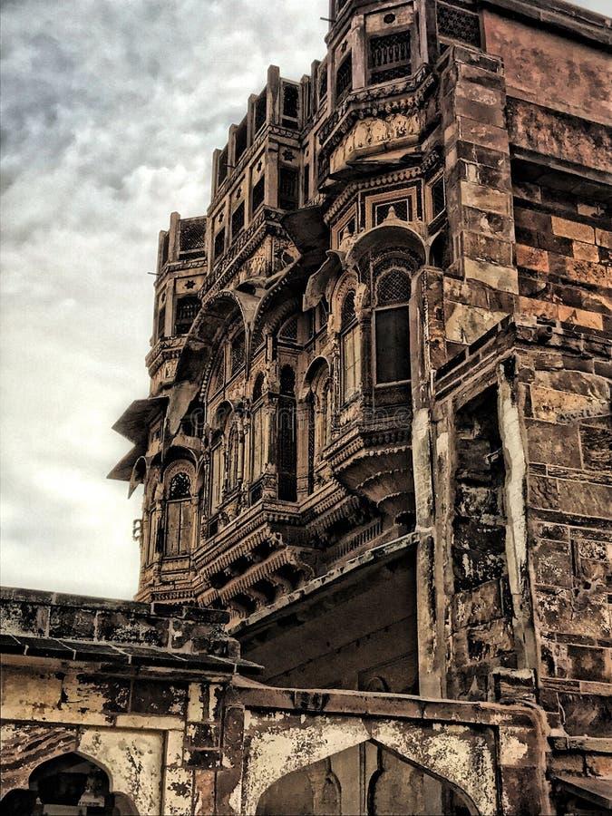 Undersökande rajasthan som undersöker det Indien fortet jodhpur blå stad meharangadhfort arkivfoto