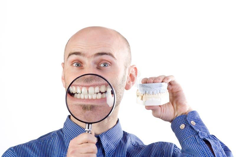 undersökande tänder royaltyfri foto