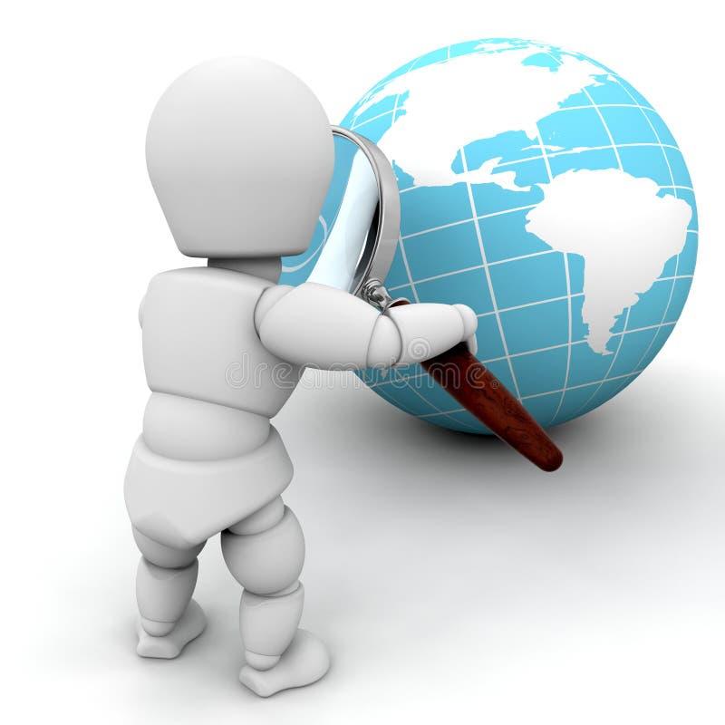 undersökande värld vektor illustrationer
