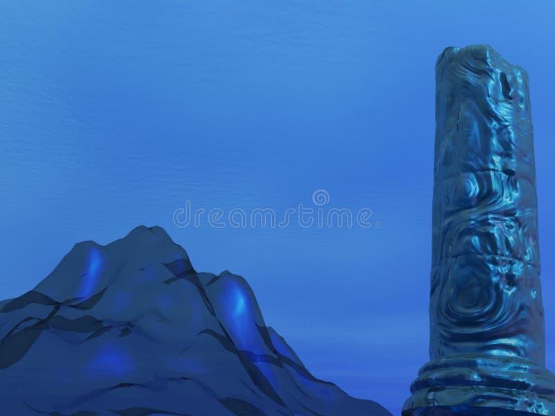 Download Undersea Pillar stock illustration. Image of greek, geometric - 250842