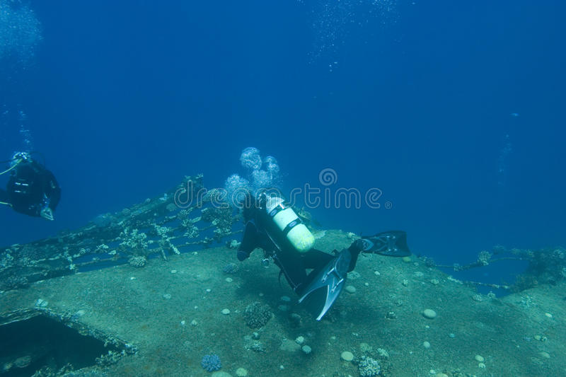 Undersea ruins royalty free stock images