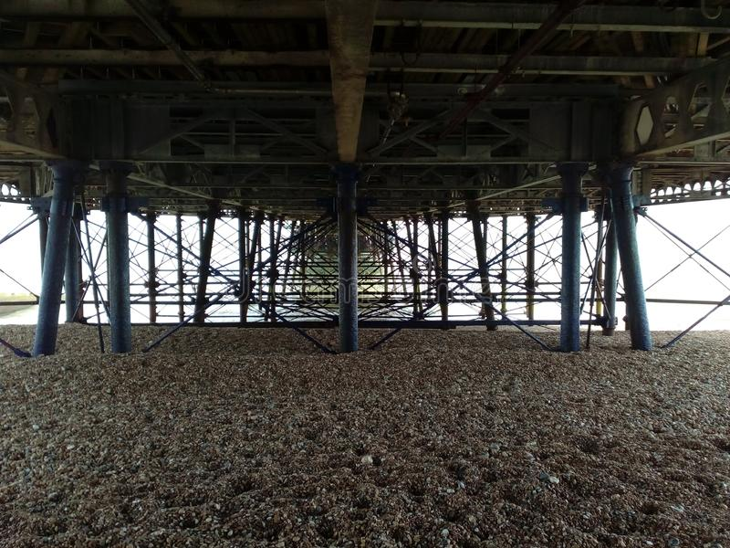 Underside from Brighton Peer. These is the underside from the Brighton Peer in England. It looks a little bit as a since fiction movie stock image