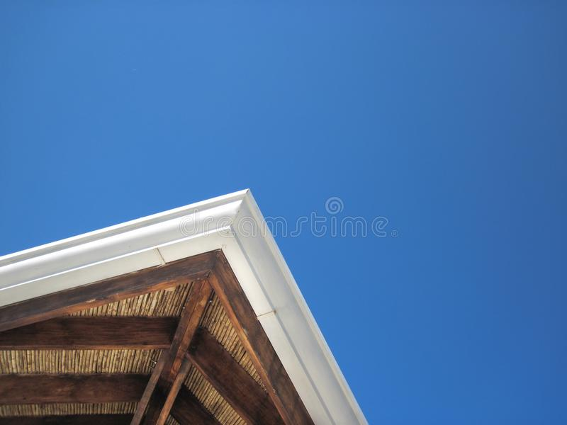Underside of a roof on a beach cabana royalty free stock images