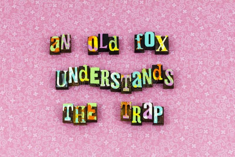 Understand imparare esperienza per insegnare allo scritto tipografico di saggezza immagini stock libere da diritti