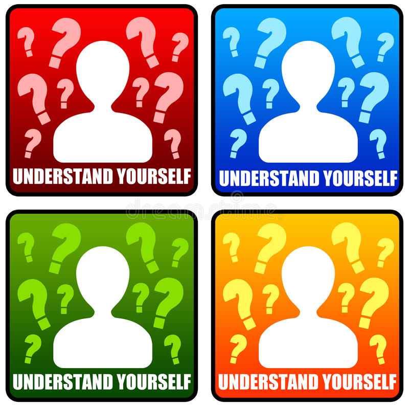 Understand yourself vector illustration