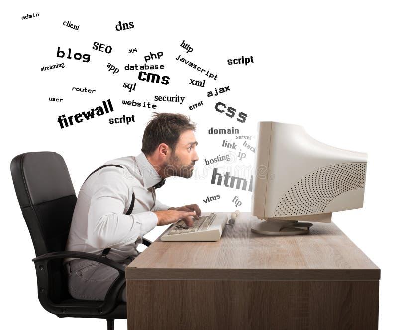Understanding internet terms stock photo