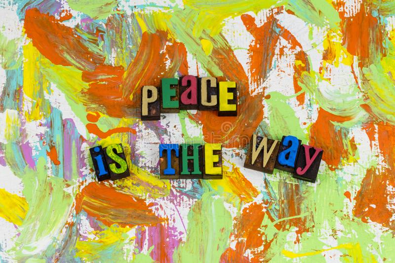 Peace is the way love relationship stock image