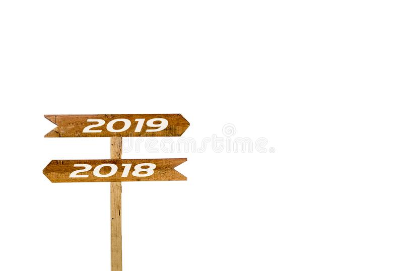 Underteckna banret 2017, 2018 isolerad vit bakgrund royaltyfri bild