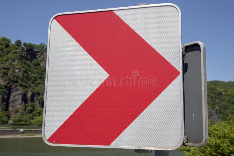 Underteckna på vägen arkivbild
