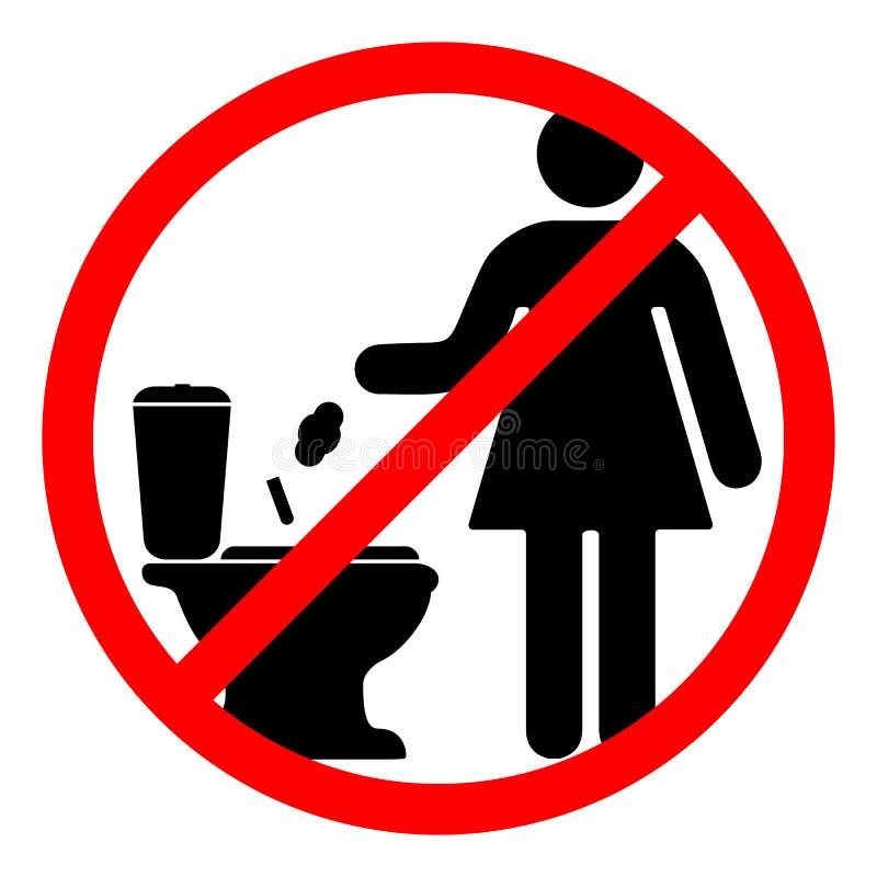Underteckna som förbjuder kastet stock illustrationer