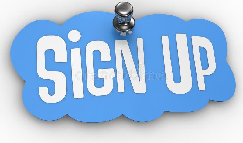 Underteckna upp symbolen för websitestiftetiketten royaltyfri illustrationer