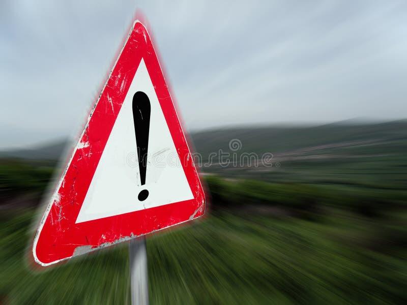 underteckna varning royaltyfri foto
