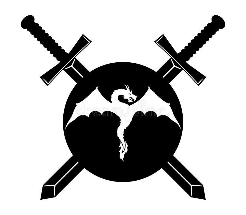 underteckna vektorn Drake stock illustrationer