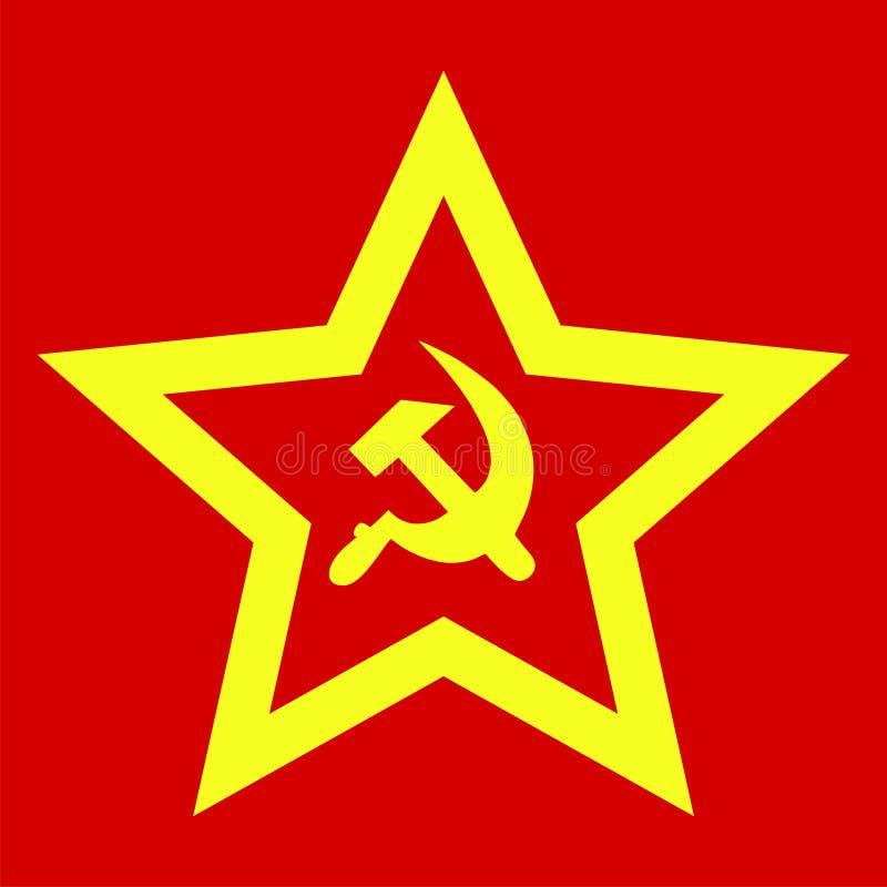 undertecknar sovjet stock illustrationer
