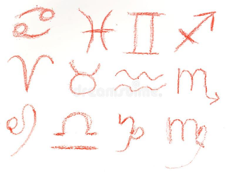 undertecknar zodiac arkivbild