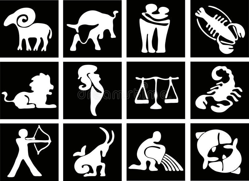 undertecknar zodiac royaltyfri illustrationer