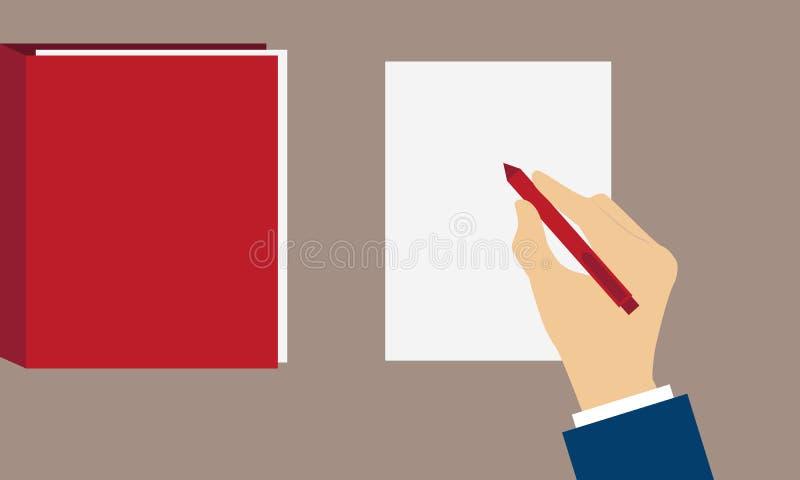 Underteckning av fördraget vektor illustrationer