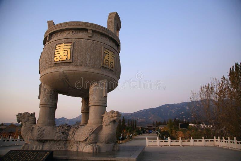 Undervärderad för yi för town- shan meng royaltyfri bild