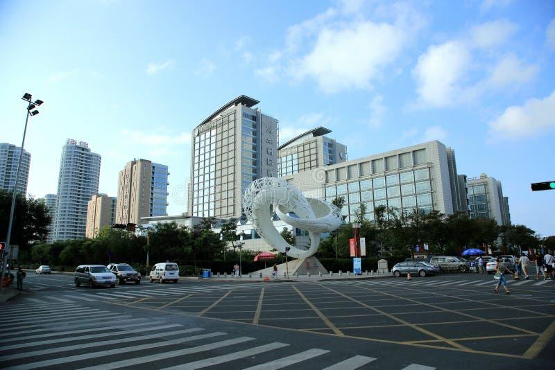 Undervärderad town- Qingdao arkivbild
